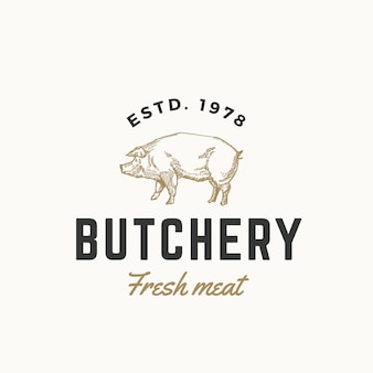 Fresh meat butchery logo