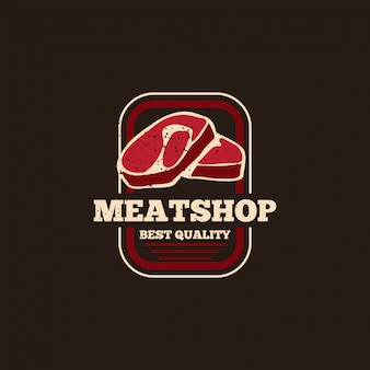 Fresh meat logo badge concept