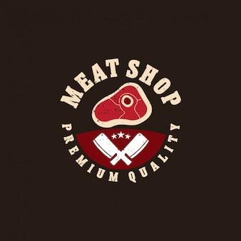 Fresh meat logo badge concept