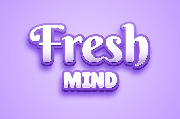 Design dell'effetto del testo della mente fresca