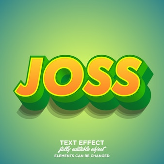 Fresh and modern bold green font effect