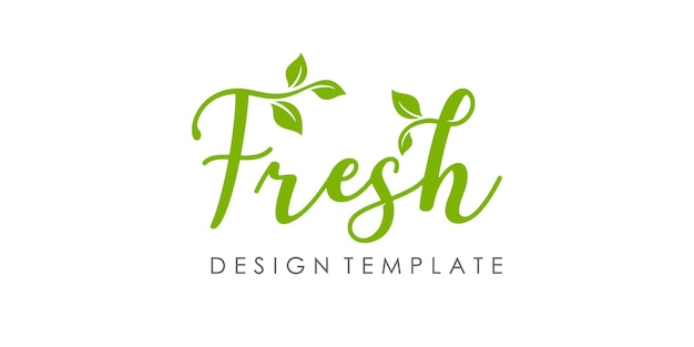 新鮮な自然のタイポグラフィのロゴデザインのインスピレーション