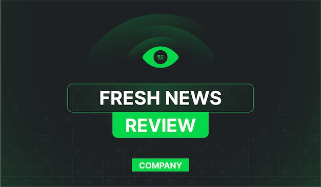 Fresh news review daily company web banner
