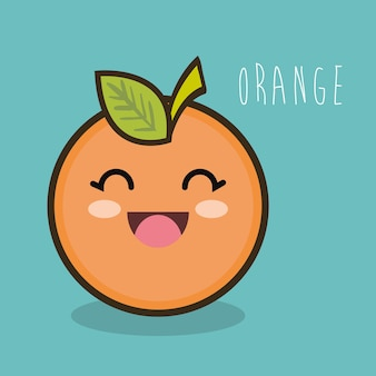 Fresh orange cartoon emotion