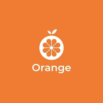 フレッシュオレンジのシンプルなミニマルロゴデザイン