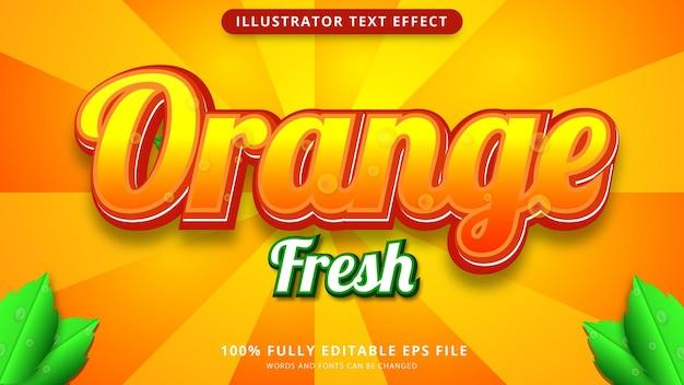 新鮮なオレンジ色のテキスト効果epsファイル