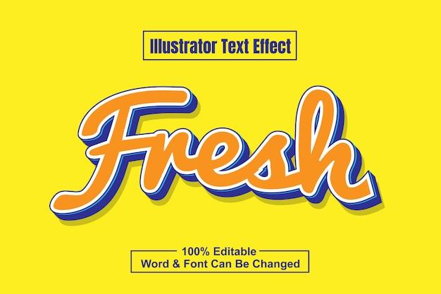 Свежий оранжевый текстовый эффект