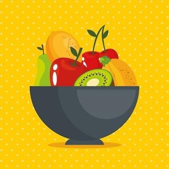 Концепция свежих органических фруктов