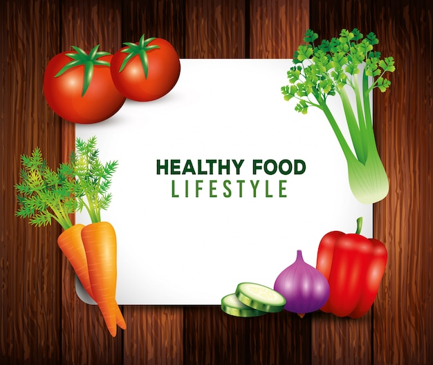Fresh organic vegetables, healthy food, healthy lifestyle or diet on wooden background