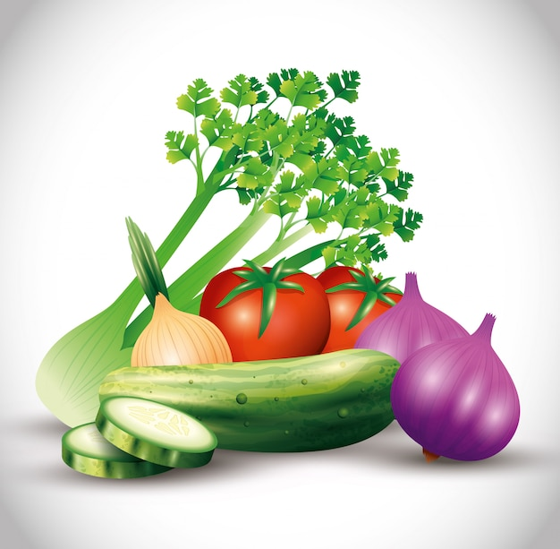 Свежие органические овощи, здоровая пища, здоровый образ жизни или диета
