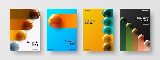 Набор векторных концепций дизайна свежих брошюр