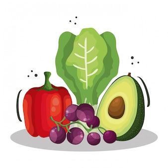 健康的な野菜と新鮮な唐辛子