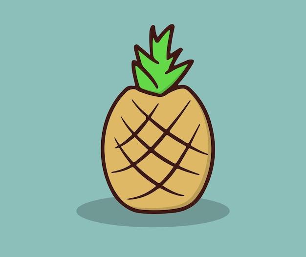 Fresh pineapple fruit this summer