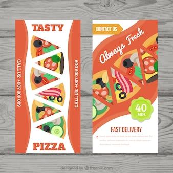 Flyer fresco di pizza