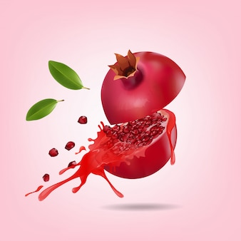 Fresh pomegranate fruits