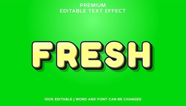 신선한 프리미엄 편집 가능한 글꼴 텍스트 효과