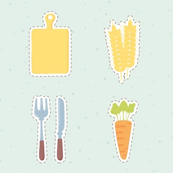 신선한 농산물 아이콘