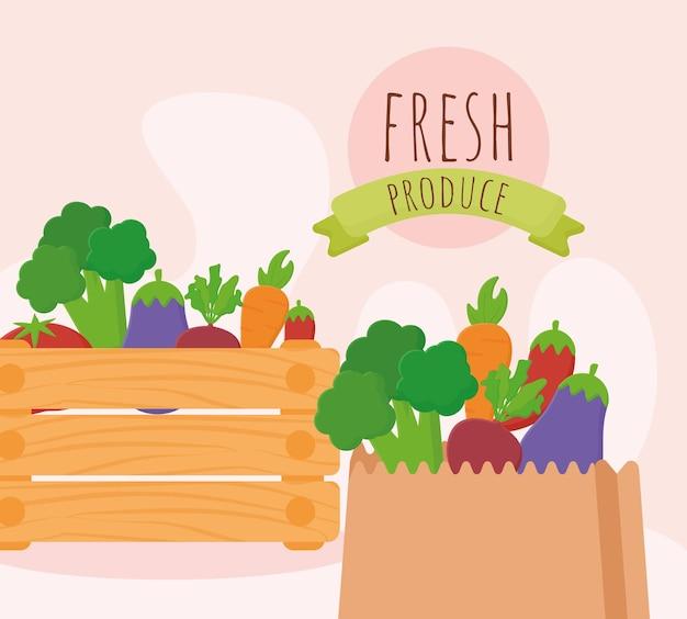 Fresh produce illustration
