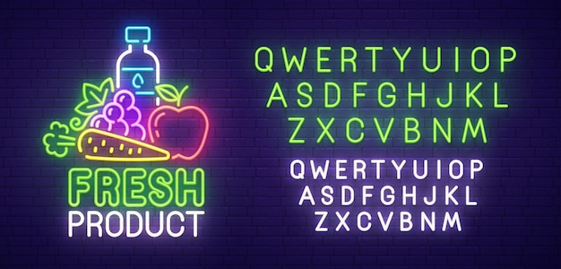 Fresh product neon sign
