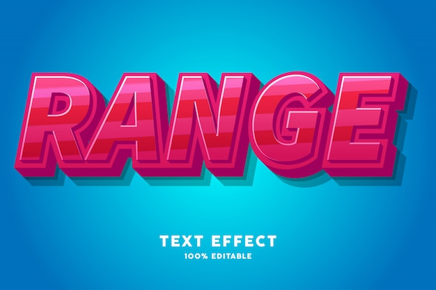 Fresh red candy text effect