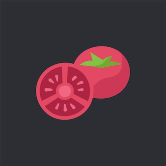 Fresh red tomoatoes food vector