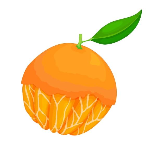 Свежий спелый апельсин.