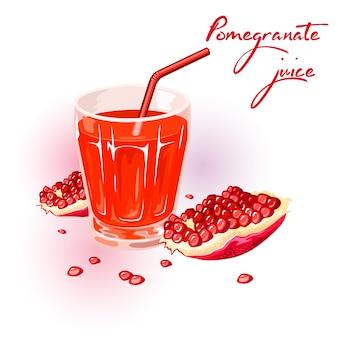 Fresh ripe red pomegranate