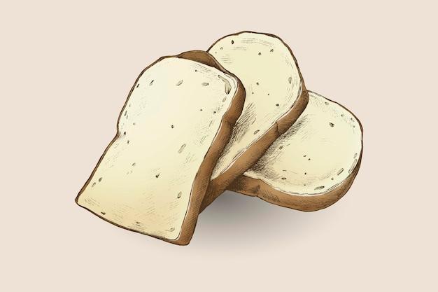 흰 빵의 신선한 조각