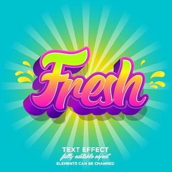 Fresh sticker font effect with fresh gradient