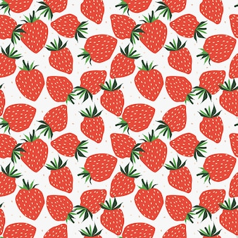 Fresh strawberry seamless pattern.