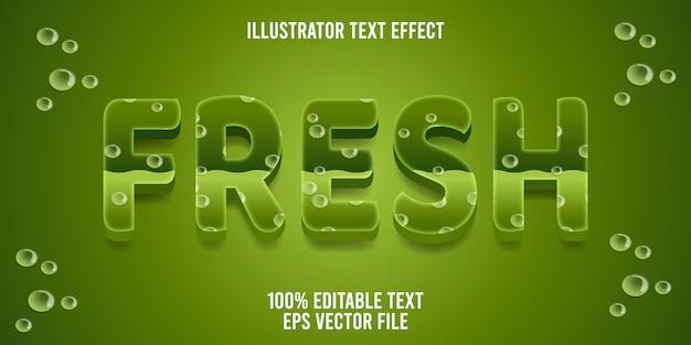 Редактируемый текстовый эффект fresh style