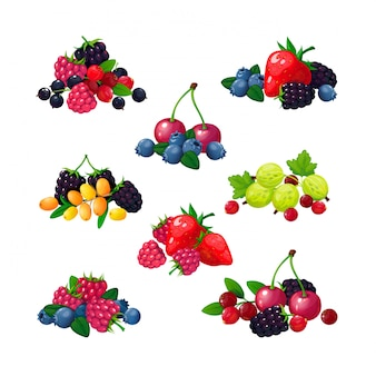 新鮮な夏の果実セット