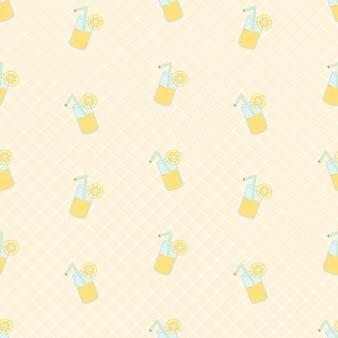 Fresh summer lemonade seamless pattern