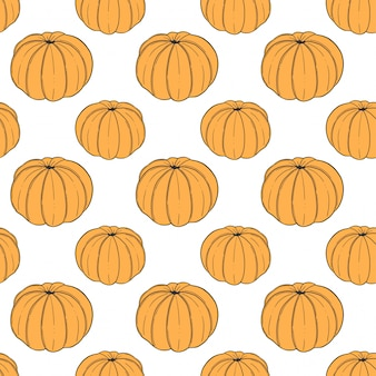 Fresh tangerine seamless pattern in doodle and sketch style.