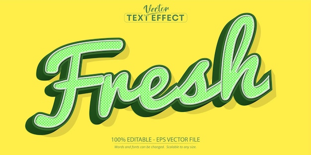 Fresh text, retro style editable text effect