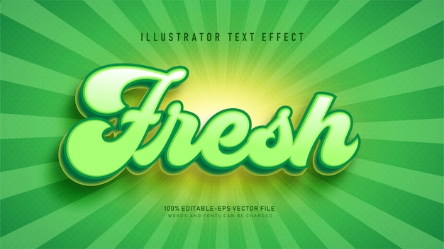 Fresh  text style effect
