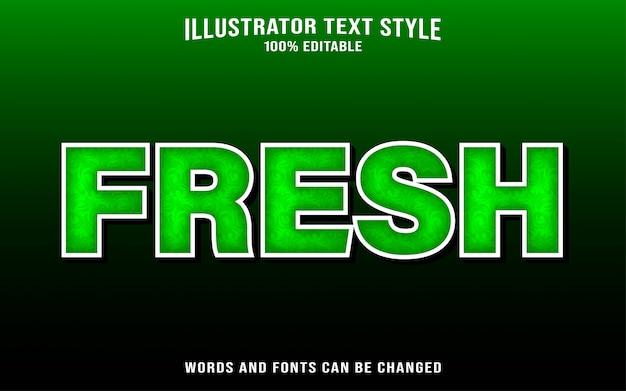 Fresh text style