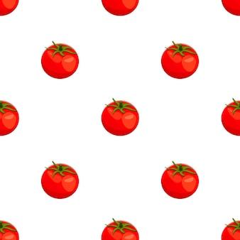 Свежие помидоры, фолт мультяшный обращается бесшовные модели. красочный фон, вектор овощей. красочные иллюстрации с едой. вектор бесшовный фон с красными помидорами. векторная иллюстрация
