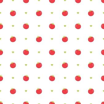 신선한 토마토 벡터 원활한 패턴 배경