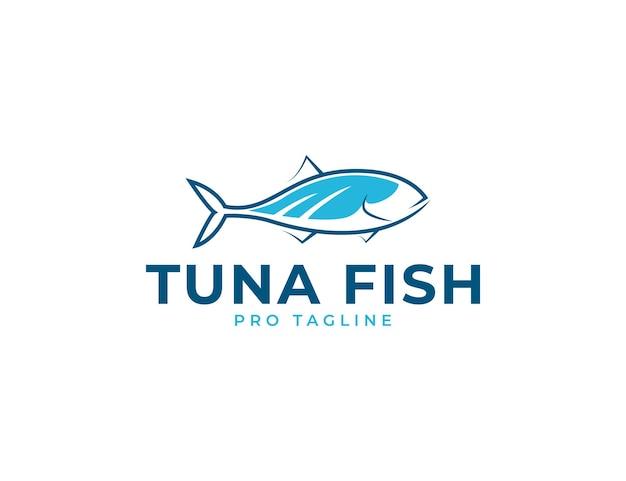 Шаблон дизайна логотипа свежего тунца и морепродуктов