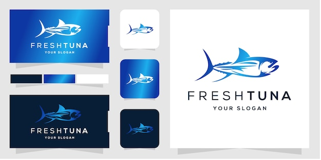 Шаблон логотипа свежего тунца