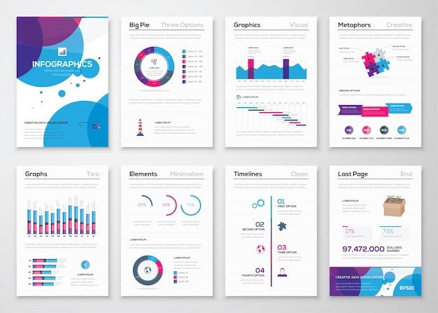 Infographicsおよびビジネスパンフレット用の新しいベクトル要素