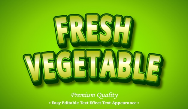 Fresh vegetable 3d font style effect