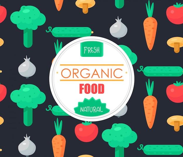 Fresh vegetable badge