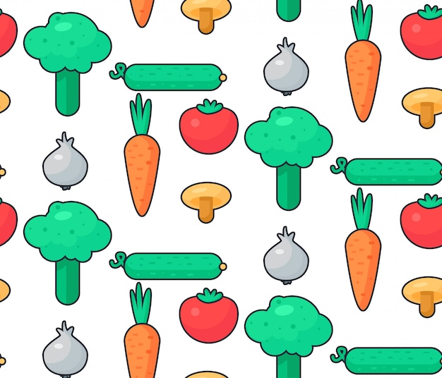 Fresh vegetable salad pattern