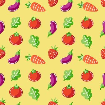 신선한 야채 원활한 패턴 벡터 배경