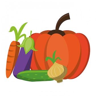 Fresh vegetables cartoon