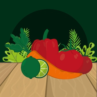 Fresh vegetables cartoon