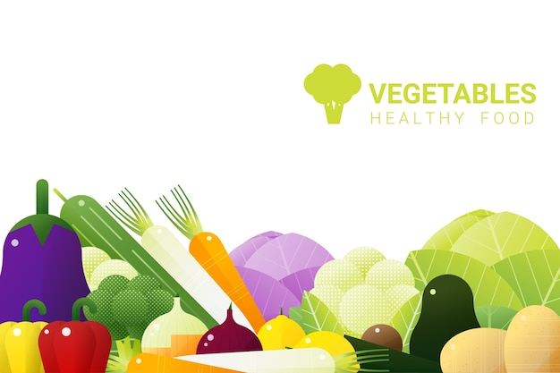 Fresh vegetables on white background , healthy food concept