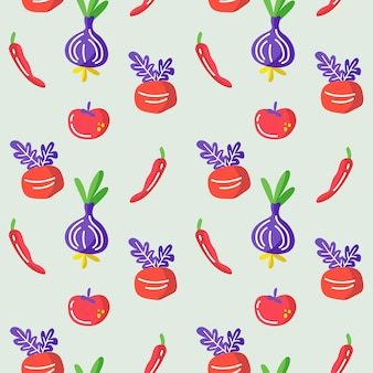 신선한 채식 원활한 패턴 배경